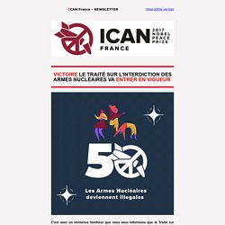 Newsletter ICAN France - Octobre 2020