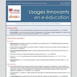 Newsletter No 24 mai-juin 2015 – Usages innovants en e-éducation » uTOP-Inria