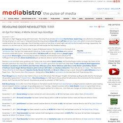 Revolving Door Newsletter: 11.11.11 - mediabistro.com Content
