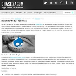 Newsletter Module For Drupal | ChaseSagum.com