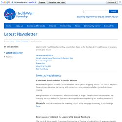 Latest Newsletter - HealthWest Partnership