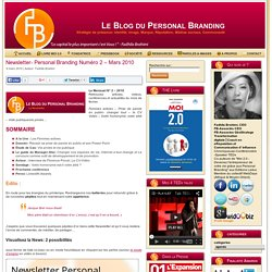 Newsletter- Personal Branding Numéro 2 – Mars 2010
