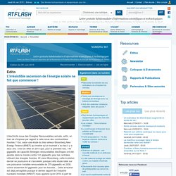 Newsletter RTFlash n°801