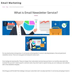 What is Email Newsletter Service? - Email Marketing