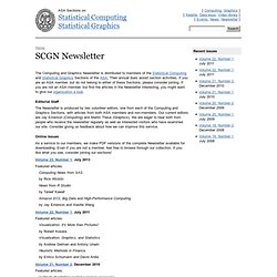 Newsletter. ASA Statistics Computing and Graphics
