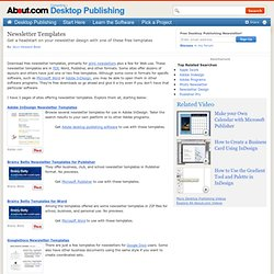 Newsletter Templates - Download Free Newsletter Templates for Print and Web