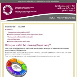 Newsletter 109: NCCMT Weekly Round-up - Check out the new look in the Learning Centre!