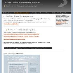 Modèles Emailing & générateur de newsletter