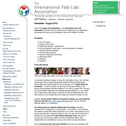 Newsroom - Newsletters - Newsletter - August 2012 - International Fab Lab Association