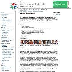 Newsroom - Newsletters - Newsletter - November 2012 - International Fab Lab Association