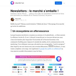 Newsletters : le marché s'emballe ! - In Bed With Tech