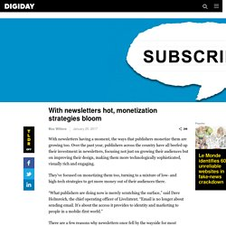 With newsletters hot, monetization strategies bloom