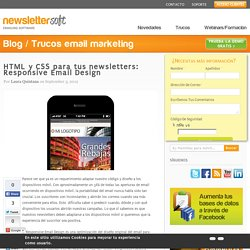HTML y CSS para tus newsletters: Responsive Email Design
