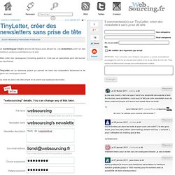 TinyLetter, créer des newsletters sans prise de tête