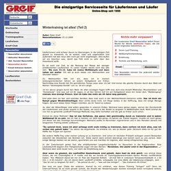 Greif Newsletters-Archiv: Wintertraining ist alles! (Teil 2)