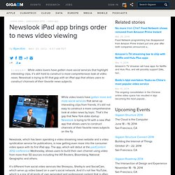 Newslook iPad app brings order to news video viewing