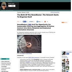 The Birth Of The NewsMaster: The Network Starts To Organize Itself