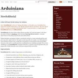 NewSoftSerial|Arduiniana