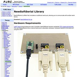 NewSoftSerial Library, for an extra serial port