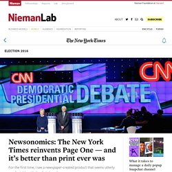 Newsonomics: The New York Times reinvents Page One — and it's better than print ever was