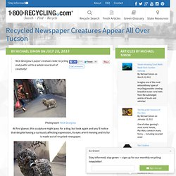 Recycled Newspaper Creatures Appear All Over Tucson