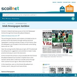 Irish Newspaper Archive - Scoilnet