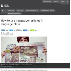 How to use newspaper articles in language class