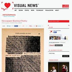 Newspaper Blackout Poetry - Visual News