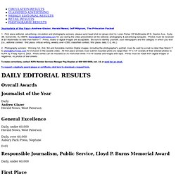 Better Newspaper Contest - 2002 Editorial Results for Dailies