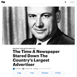 The Time A Newspaper Stared Down The Country's Largest Advertiser