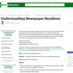 Newspaper Headlines for English Learners