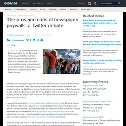 The pros and cons of newspaper paywalls: a Twitter debate
