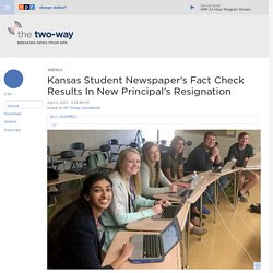 Kansas Student Newspaper's Fact Check Results In New Principal's Resignation