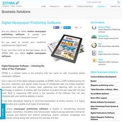 Digital Newspaper Software Online Newspaper Publishing Software