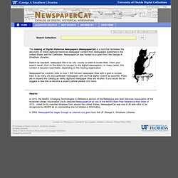 UF: NewspaperCat: Catalog of Historical Newspapers