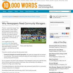 Why Newspapers Need Community Managers