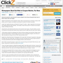 Newspapers Beat Out Web in Coupon Market, For Now - ClickZ