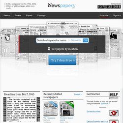 Historical Newspapers from 1700s-2000s