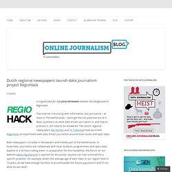 Dutch regional newspapers launch data journalism project RegioHack