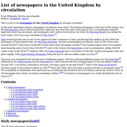 List of newspapers in the United Kingdom by circulation