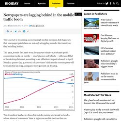 Newspapers are lagging behind in the mobile traffic boom