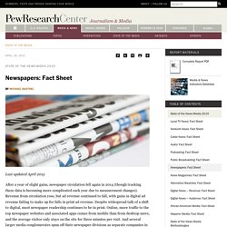 Newspapers: Fact Sheet