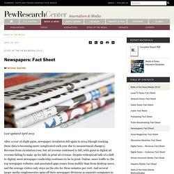 Newspapers: Fact Sheet