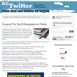 A Look at The Top 25 Newspapers on Twitter