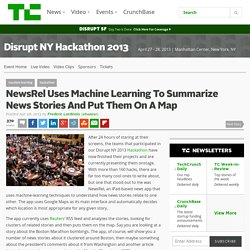 NewsRel Uses Machine Learning To Summarize News Stories And Put Them On A Map