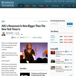AOL's Newsroom Is Now Bigger Than The New York Times's