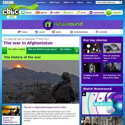 CBBC Newsround - The history of the Afghanistan war