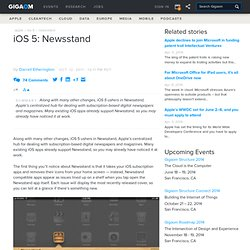iOS 5: Newsstand — Apple News, Tips and Reviews