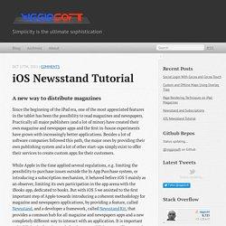 iOS Newsstand Tutorial - Viggiosoft Blog