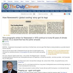 How Newsweek's 'global cooling' story got its legs
